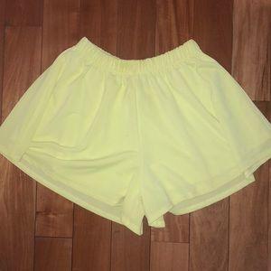 Nasty Gal Green High Waisted Shorts - xxs